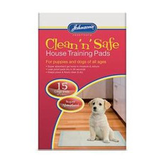 Johnsons Clean N Safe Puppy House Training Pads 15 Pack To 30 Pack
