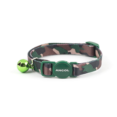 Ancol Green Camouflage Cat Collar