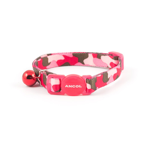 Ancol Pink Camouflage Cat Collar  To 3 X