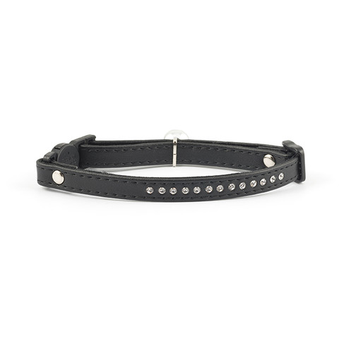 Ancol Deluxe Black Jewel Cat Collar  To 3 X