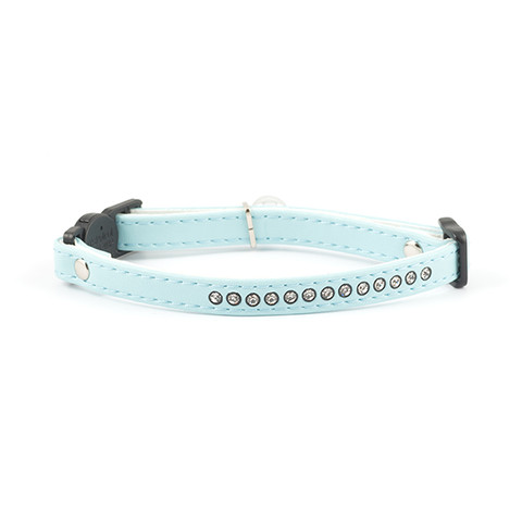 Ancol Deluxe Baby Blue Jewel Cat Collar  To 3 X