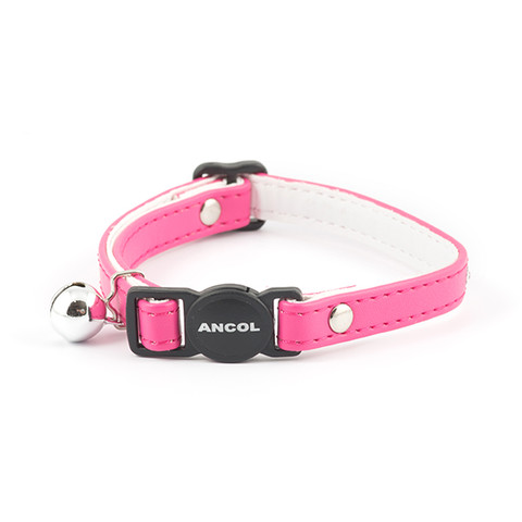 Ancol Deluxe Cerise Pink Jewel Cat Collar  To 3 X