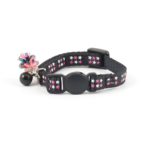 Ancol Stars Black Cat Collar With Jewels