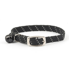 Ancol Reflective Black Softweave Cat Collar