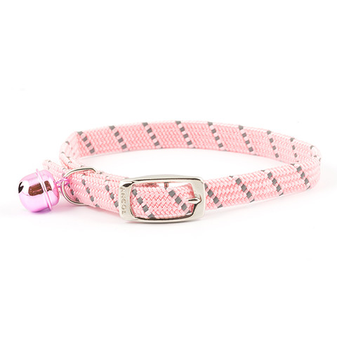 Ancol Reflective Pink Softweave Cat Collar  To 3 X