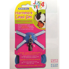 Small Animal Harness And Lead Set Blue