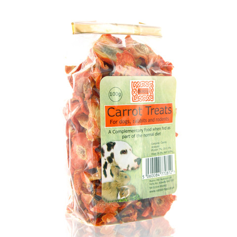 Burns Dried Sliced Carrot Treats 100g