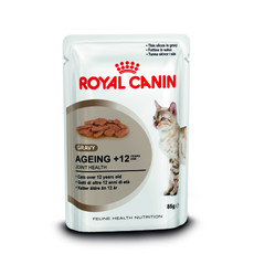 Royal Canin Ageing 12+ Cat Food In Gravy Pouches 12 X 85g