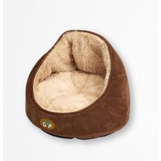 Gor Pets Nordic Elan Cat Bed In Brown Suede 36x39x39cm
