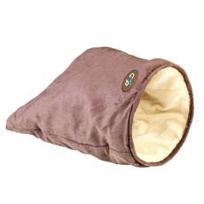 Gor Pets Crinkle Cat Play/sleep Bag In Brown Suede 28x28x46cm