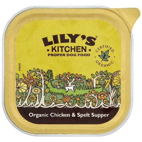 Lilys Kitchen Organic Chicken Supper For Dogs 11 X 150g