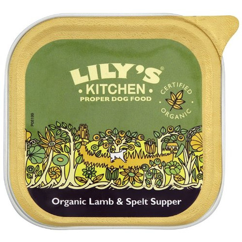 Lilys Kitchen Organic Lamb Supper For Dogs 11 X 150g