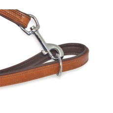 Ancol Heritage Padded Vintage Chestnut Leather Dog Training Lead 1.8mx19mm