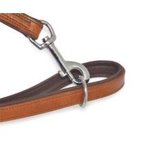 Ancol Heritage Padded Vintage Chestnut Leather Dog Training Lead 2.25mx19mm