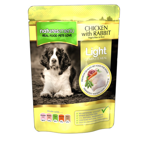 Natures Menu Adult Light Pouch With Chicken And Rabbit 8 X 300g