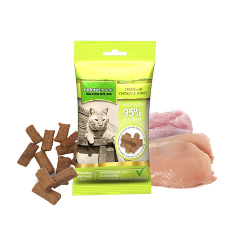 Natures Menu Cat Treat With Chicken And Turkey 12 X 60g To 60g