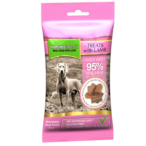 Natures Menu Real Meaty Dog Treat With Lamb And Chicken 60g