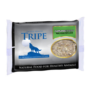 Natures Menu Minced Frozen Dog Food With Tripe 400g