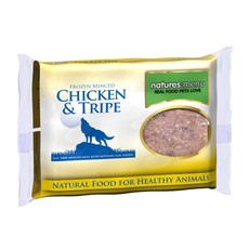 Natures Menu Minced Frozen Dog Food With Chicken And Tripe 400g To 12 X 400g