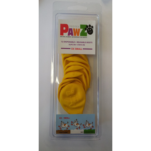 Pawz Natural Rubber Waterproof Resusable Dog Boots Xx Small