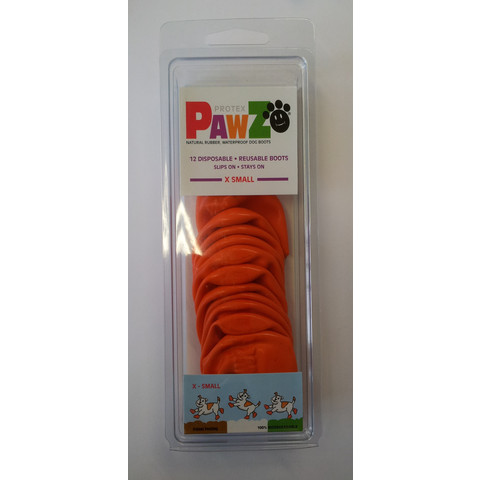 Pawz Natural Rubber Waterproof Resusable Dog Boots X Small