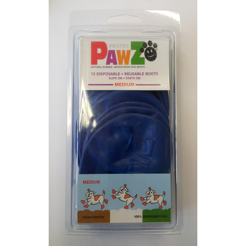 Pawz Natural Rubber Waterproof Resusable Dog Boots Medium