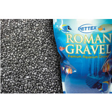 Aquatic Roman Gravel Jet Black 2kg