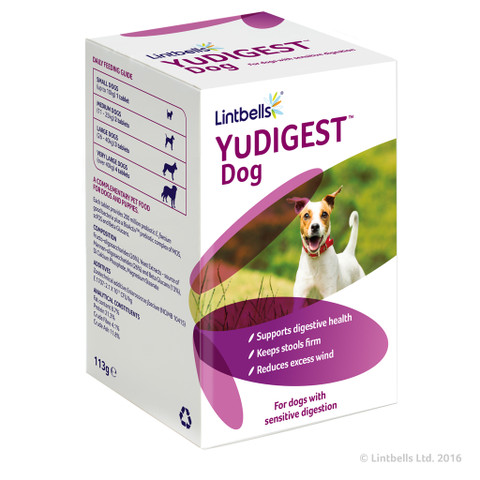Lintbells Yudigest Digestive Care Supplement Tablets For Dogs 120 Tab