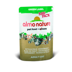 Almo Nature Green Label Raw Pack Chicken Breast Pouches 24 X 55g