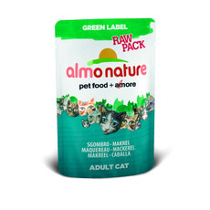 Almo Nature Green Label Raw Pack Mackerel Pouches 24 X 55g