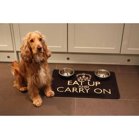 """Pet Rebellion """"eat Up And Carry On"""" Non Slip Dog Dinner Mat 40x60cm"""