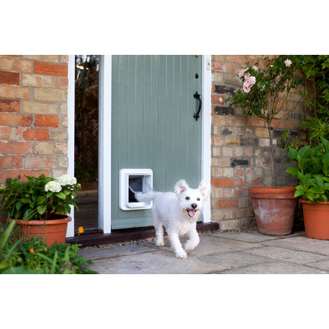 Sureflap White Microchip Cat & Dog Flap Pet Door Large