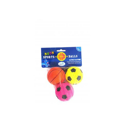 Happy Pet Neon Sports Ball Dog Toy 3 Pack