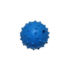 Rubber Studded Ball & Bell Dog Toy 2inch