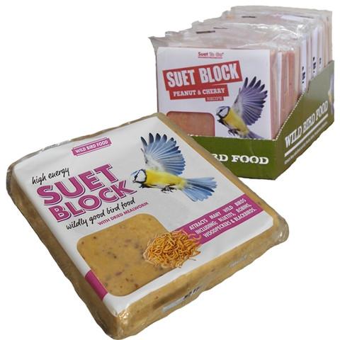 Unipet Suet To Go Mealworm Flavour Suet Block 300g