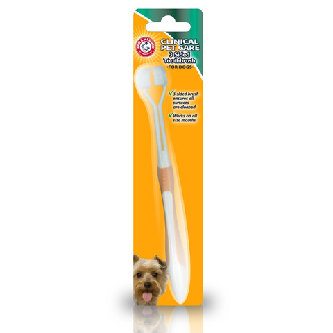 The Company Of Animals Arm & Hammer 3 Sided Toothbrush For Dogs