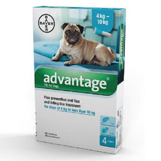Advantage 100 Spot-on Solution For Dogs 4kg - 10kg 4 Pipette