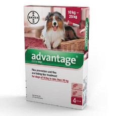 Advantage 250 Spot-on Solution For Dogs 10kg - 25kg 4 Pipette