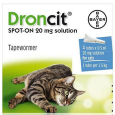 Drontal Droncit Spot On Worming Drops For Cats 4 Pack