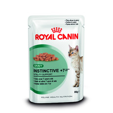 Royal Canin Instinctive 7+ Cat Food In Gravy Pouches 12 X 85g