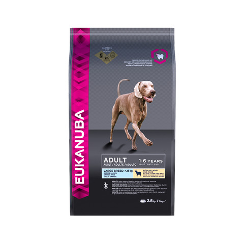 Eukanuba Adult Lamb Large Breed Dry Dog Food 2.5kg To 2 X 12kg