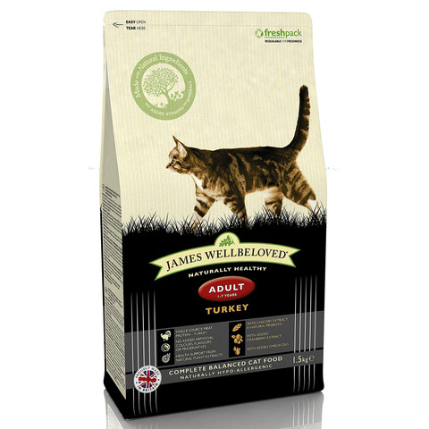 James Wellbeloved Adult Cat With Turkey 1.5kg
