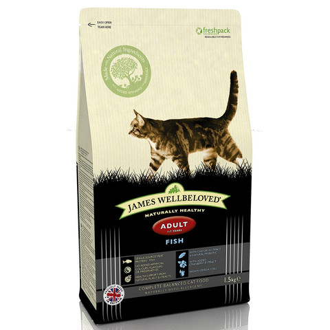 James Wellbeloved Adult Cat With Fish 1.5kg To 10kg
