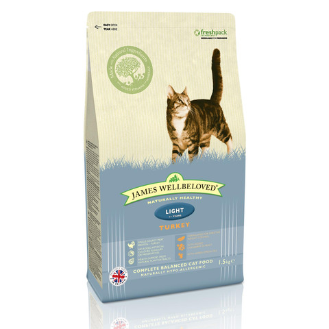 James Wellbeloved Adult Light Cat With Turkey 1.5kg