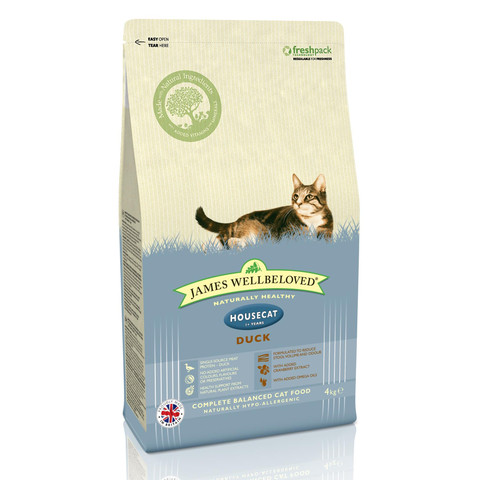 James Wellbeloved Adult House Cat With Duck 1.5kg To 4kg