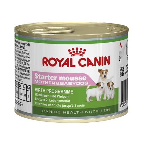 Royal Canin Starter Mousse Mother And Babydog Wet Food 12 X 195g