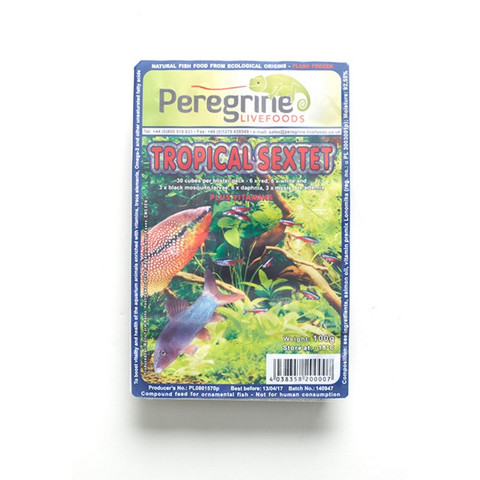 Peregrine Livefoods Frozen Blister Pack Tropical Sextet 100g