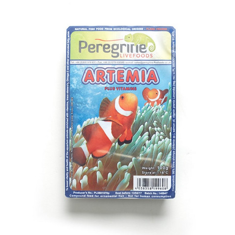 Peregrine Livefoods Frozen Blister Pack Artemia Brineshrimp 100g