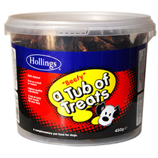Hollings Tub Of Beefy Dog Treats 450g