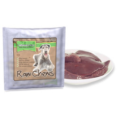 Natures Menu Frozen Beef Liver Raw Chews For Dogs 500g